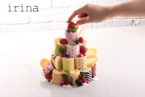 要出典 ひなまつりケーキ イリナ ロールケーキタワー