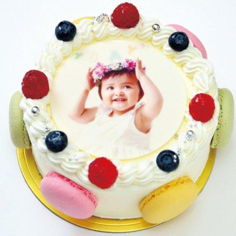 要出典 ひな祭り ケーキ シェリーブラン オリジナル写真ケーキ
