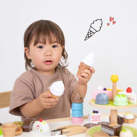 要出典 2歳 女の子 誕生日プレゼント ウッディプッディ 木のおもちゃ アイスたっぷりセット