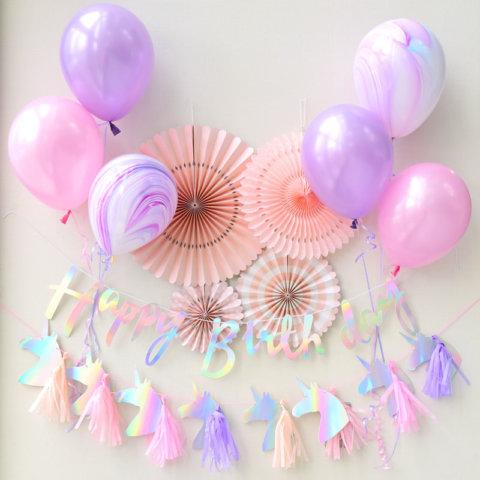 要出典  1歳 誕生日プレゼント 女の子 ユニコーン バースデイパーティーセット