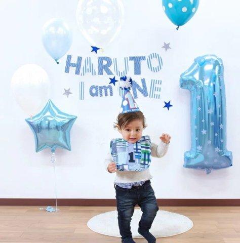 要出典 1歳の誕生日プレゼント 男の子 ファーストバースデーボーイ パーティーグッズセット
