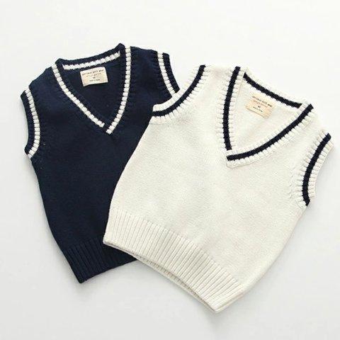 要出典 入園式 男の子 服装 ニットベスト フォーマル