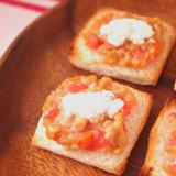 離乳食 完了期 納豆とトマトチーズのトースト