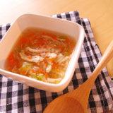 レタスと鶏ささみのスープ 中期前半 離乳食(アイキャッチ)