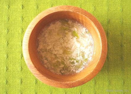 離乳食 中期 とろみ レタスと豆腐の和風あんかけ