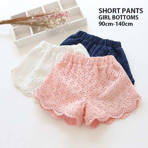 要出典 ショートパンツ 女の子 3. キッズ 女の子 ショートパンツ 刺繍