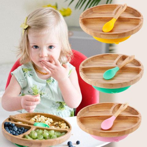 要出典 離乳食 ベビー食器セット アヴァンシー ひっくり返らない離乳食食器 プレートワイド スプーン付き