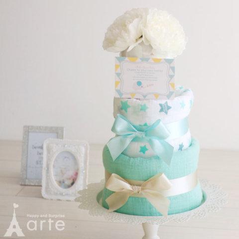 要出典 出産祝い ウィーゴアミーゴ×ベビーアルテ 公式コラボおむつケーキ