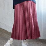 要出典 マタニティスカート エンジェリーベ 産前産後対応 サテンプリーツスカート
