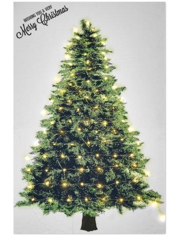 要出典 クリスマスステッカー クリスマスツリー タペストリー