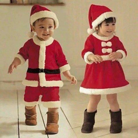 要出典 クリスマス衣装 サンタ コスプレ キッズ