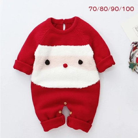 要出典 クリスマス衣装 サンタクロース ロンパース