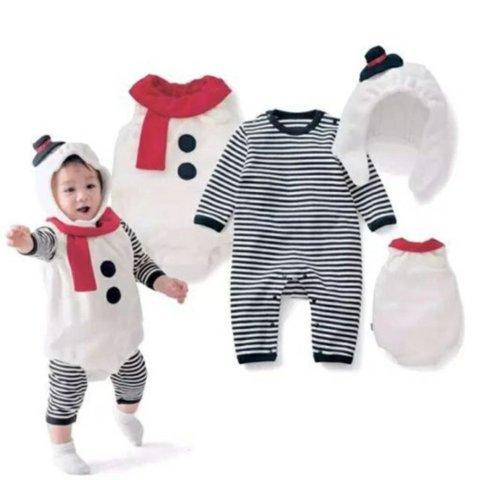 要出典 クリスマス衣装 クリスマス コスプレ 雪だるま コスチューム3点セット