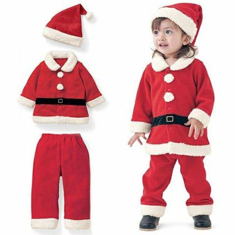 要出典 クリスマス衣装 キッズ あったかボア クリスマス コスチューム