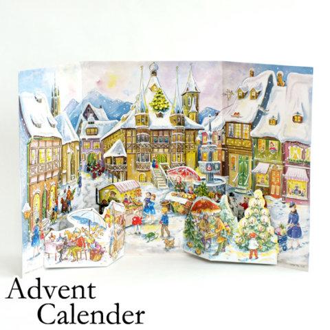 要出典 クリスマス ドイツ製 アドベントカレンダー 町のマーケット