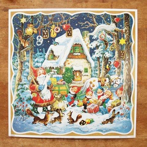 要出典 クリスマス  ドイツ製 クリスマス アドベントカレンダー 森の家
