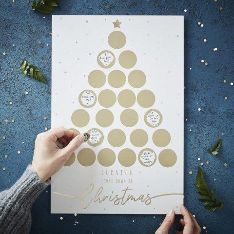 要出典 クリスマス スクラッチ式 アドベントカレンダー ゴールド