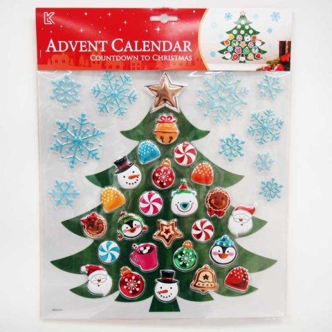 要出典 クリスマス クリスマス アドベントカレンダー ステッカー