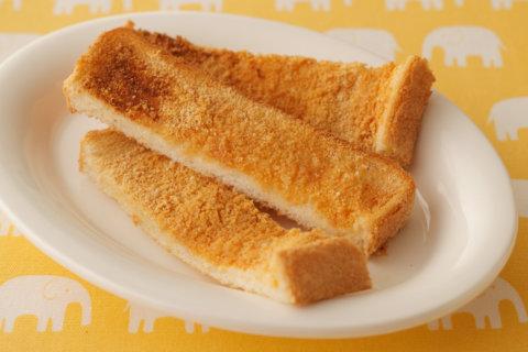 幼児食 転載 きな粉トーストスティック