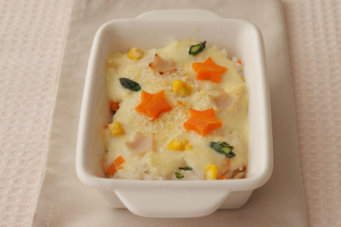 幼児食 書籍転載 型抜き野菜の豆乳ドリア