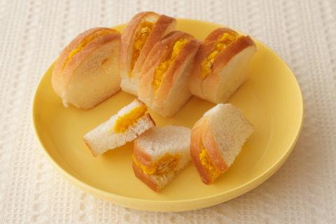 幼児食 書籍転載 ロールパンのスライスサンドイッチ(かぼちゃ&ツナ)