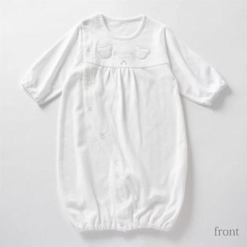 要出典 セレモニードレス 白いクマさんの可愛いベビードレス・ツーウェイオール