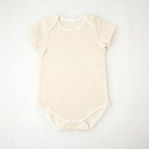 要出典 赤ちゃん用肌着 プリスティンベビー オーガニックコットン メッシュグレコ