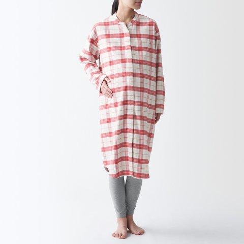 要出典 無印良品 マタニティ 脇に縫い目のない フランネル 長袖パジャマ