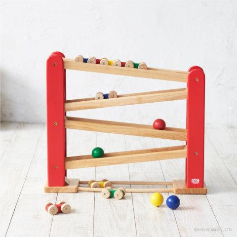 要出典 1歳のおもちゃ ニチガン くるくるスロープ
