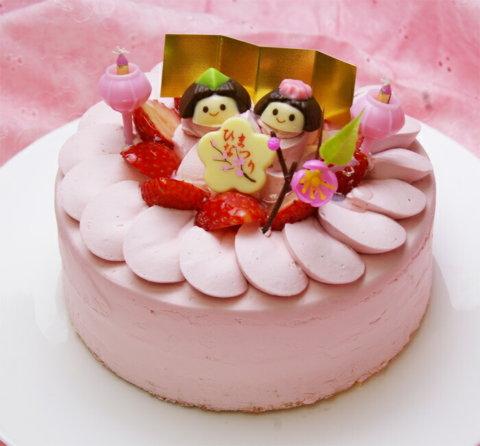 要出典 ひな祭り ケーキ パティシエのひな祭りケーキ