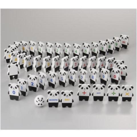 要出典 数字のおもちゃ マルハタアミー パンダドミノセット
