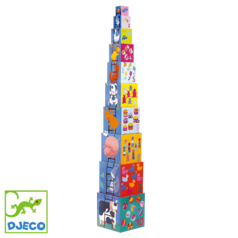 要出典 数字のおもちゃ ジェコ 10ファニーブロックス