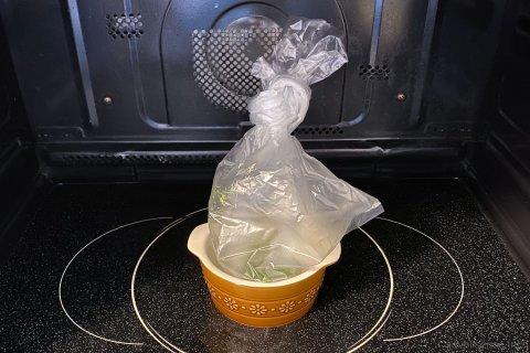 アイラップ 離乳食 初期 すりつぶしブロッコリー 作り方2
