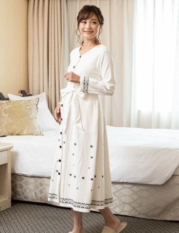 要出典 出産入院 パジャマ スウィートマミー 刺繍 マタニティ パジャマ