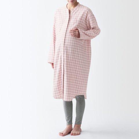 要出典 無印良品 マタニティ 脇に縫い目のない 二重ガーゼパジャマ 授乳仕様