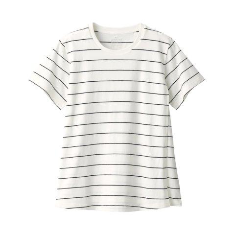 要出典 無印良品 マタニティ コットンレーヨン天竺授乳に便利な半袖Tシャツ