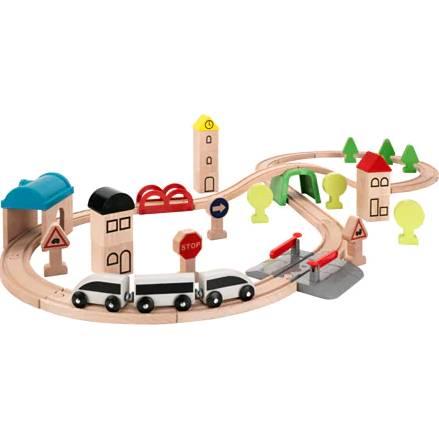 要出典 電車 おもちゃ イケア LILLABO 列車 レール付き 45個セット