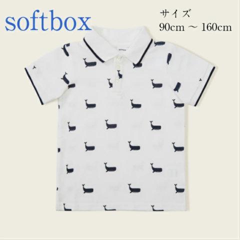 要出典 ポロシャツ キッズ softbox 半袖 ポロシャツ