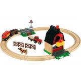 要出典 電車のおもちゃ ブリオ ファームレールセット