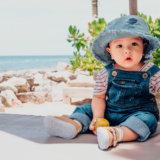 (アイキャッチ)夏 赤ちゃん 帽子 日焼け 熱中症