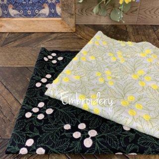子供用 シュシュ 手作り OKB fabric コットン ローン 刺繍 エンブロイダリー 生地 花柄