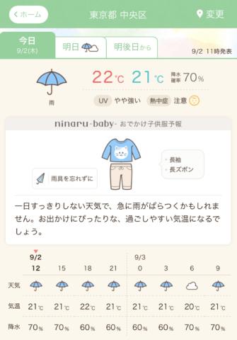 ninarubaby 天気CP 2021秋